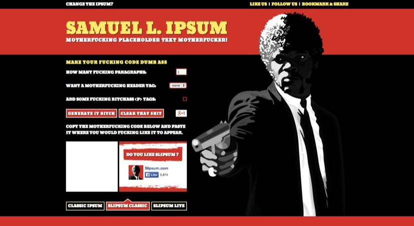 Lorem Ipsum Generator   Samuel L Ipsum