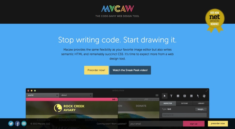Macaw   The code savvy web design tool.